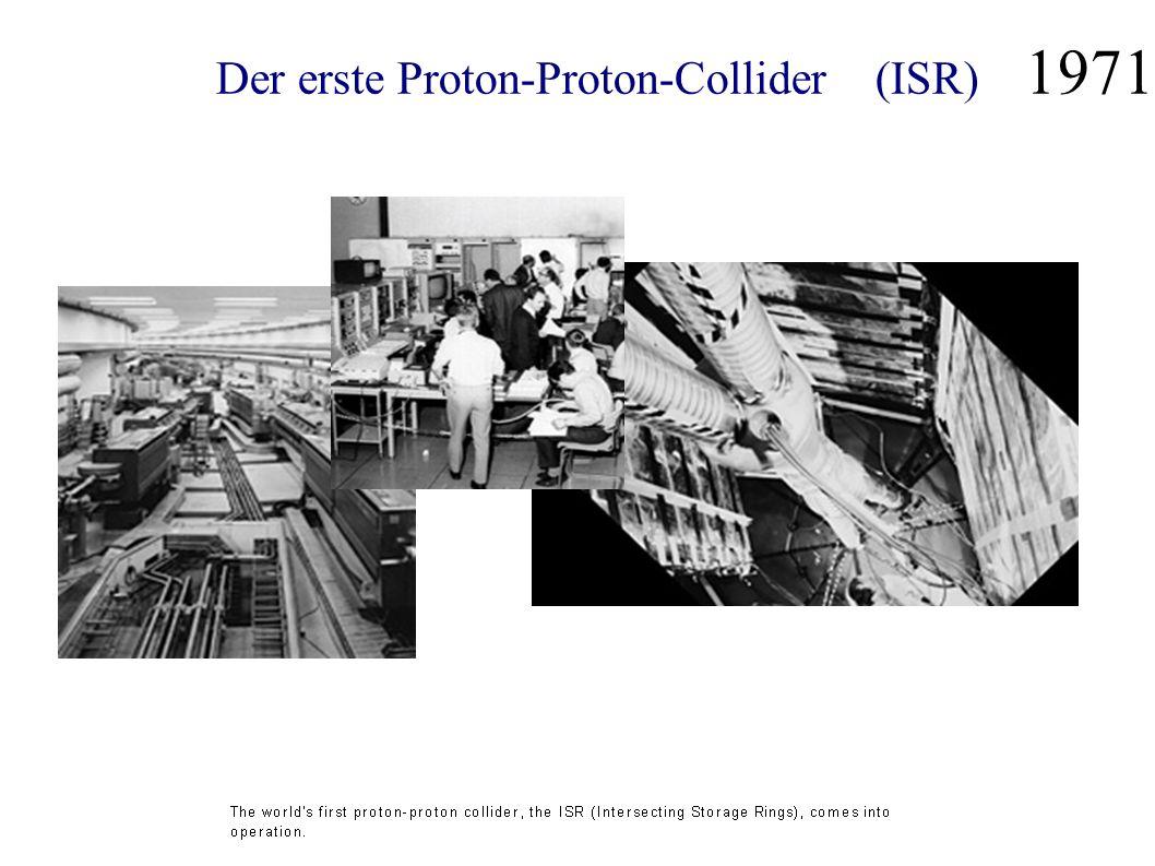 Der erste Proton-Proton-Collider (ISR) 1971