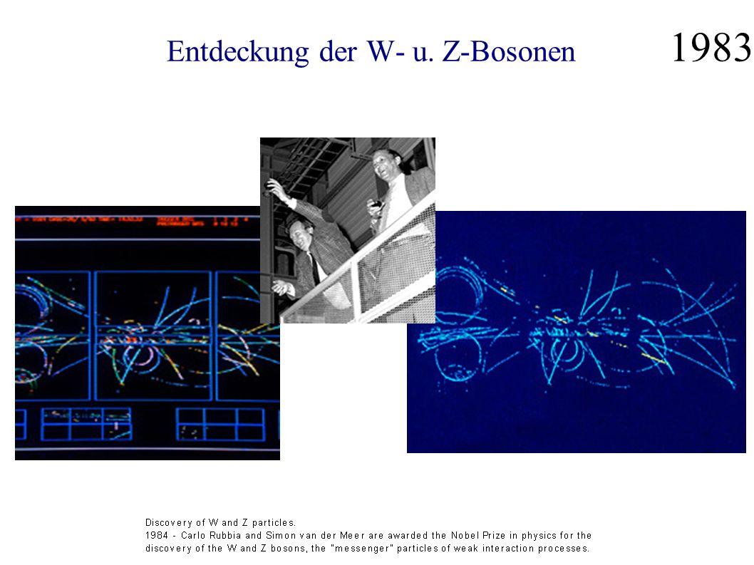 Entdeckung der W- u. Z-Bosonen 1983