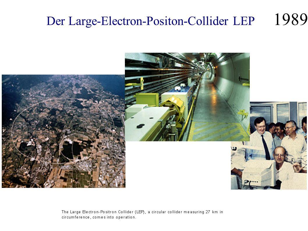 Der Large-Electron-Positon-Collider LEP 1989