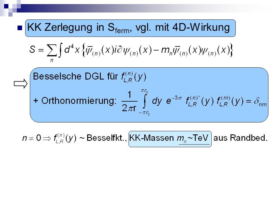 KK Zerlegung in S ferm, vgl. mit 4D-Wirkung