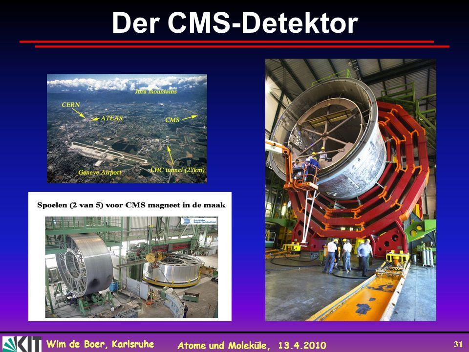 Wim de Boer, Karlsruhe Atome und Moleküle, 13.4.2010 31 Der CMS-Detektor