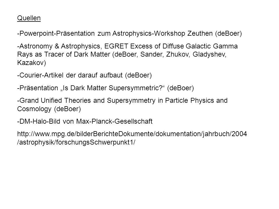 Quellen -Powerpoint-Präsentation zum Astrophysics-Workshop Zeuthen (deBoer) -Astronomy & Astrophysics, EGRET Excess of Diffuse Galactic Gamma Rays as