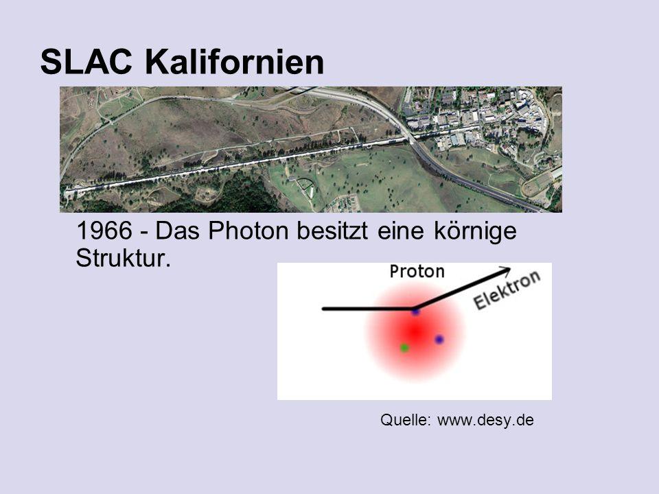 SLAC Kalifornien 1966 - Das Photon besitzt eine körnige Struktur. Quelle: www.desy.de