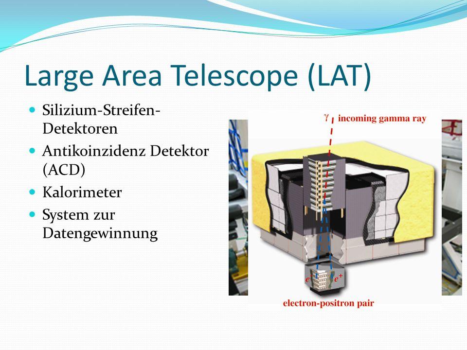 Large Area Telescope (LAT) Silizium-Streifen- Detektoren Antikoinzidenz Detektor (ACD) Kalorimeter System zur Datengewinnung