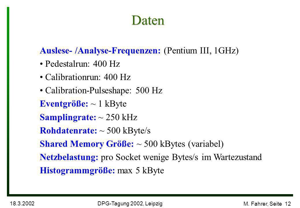 DPG-Tagung 2002, Leipzig 18.3.2002 M.