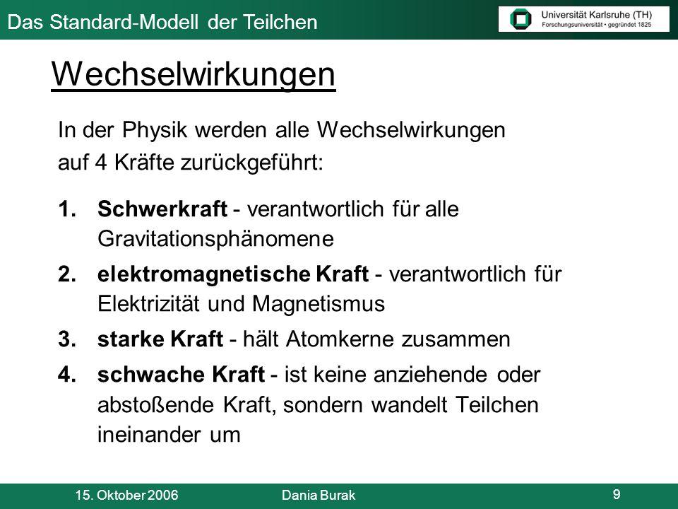 Das Standard-Modell der Teilchen Literaturverzeichnis: [1]Prof.