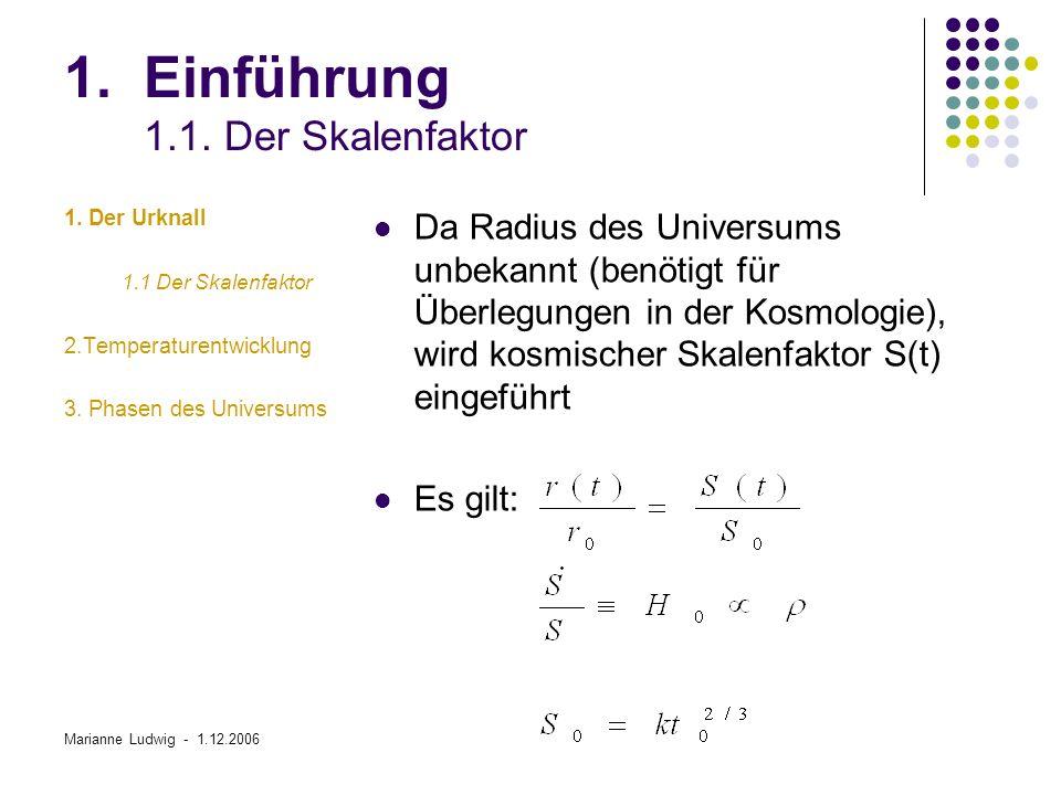 Marianne Ludwig - 1.12.2006 3.Phasen des Universums 3.7.