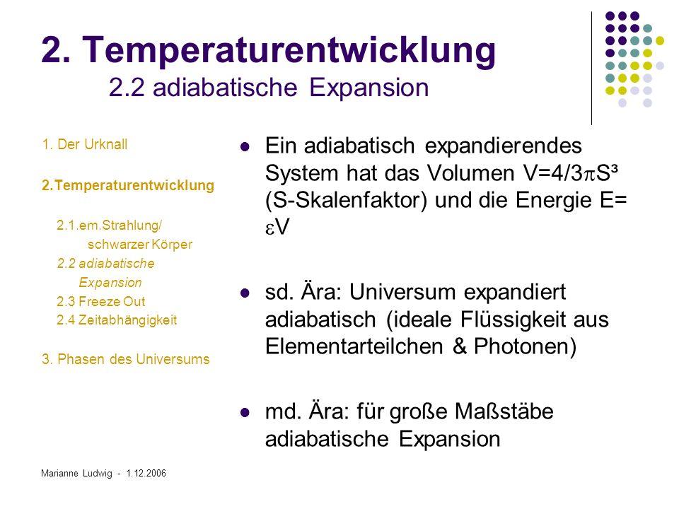Marianne Ludwig - 1.12.2006 3.Phasen des Universums 3.1.