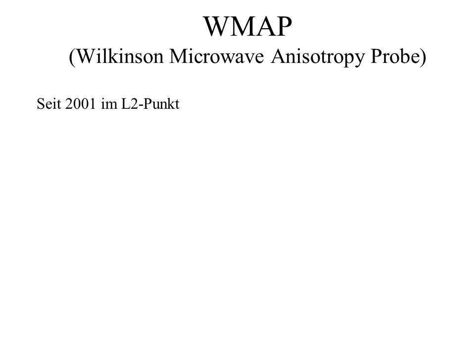 WMAP (Wilkinson Microwave Anisotropy Probe) Seit 2001 im L2-Punkt