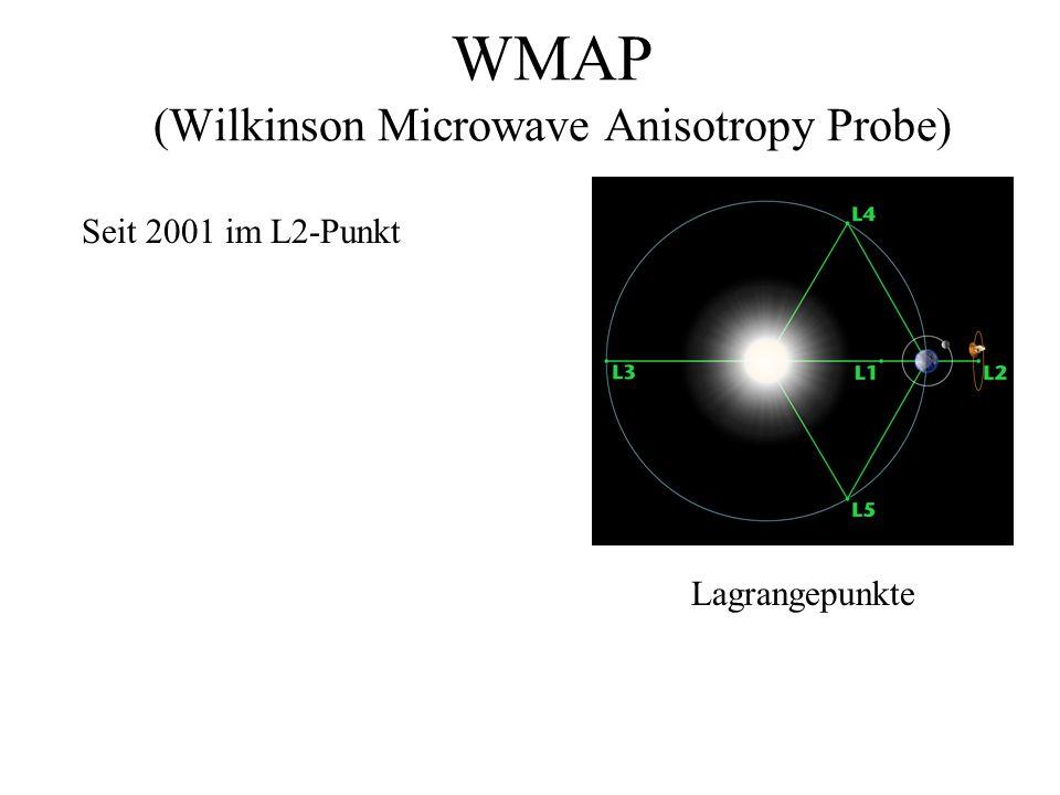 WMAP (Wilkinson Microwave Anisotropy Probe) Seit 2001 im L2-Punkt Lagrangepunkte