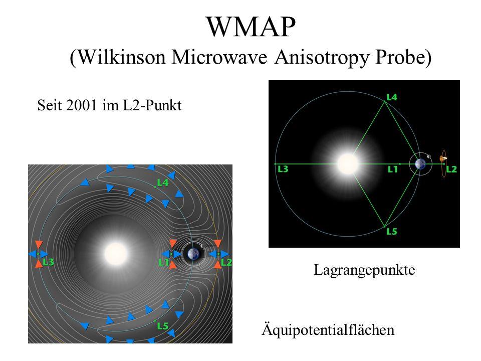 WMAP (Wilkinson Microwave Anisotropy Probe) Seit 2001 im L2-Punkt Äquipotentialflächen Lagrangepunkte