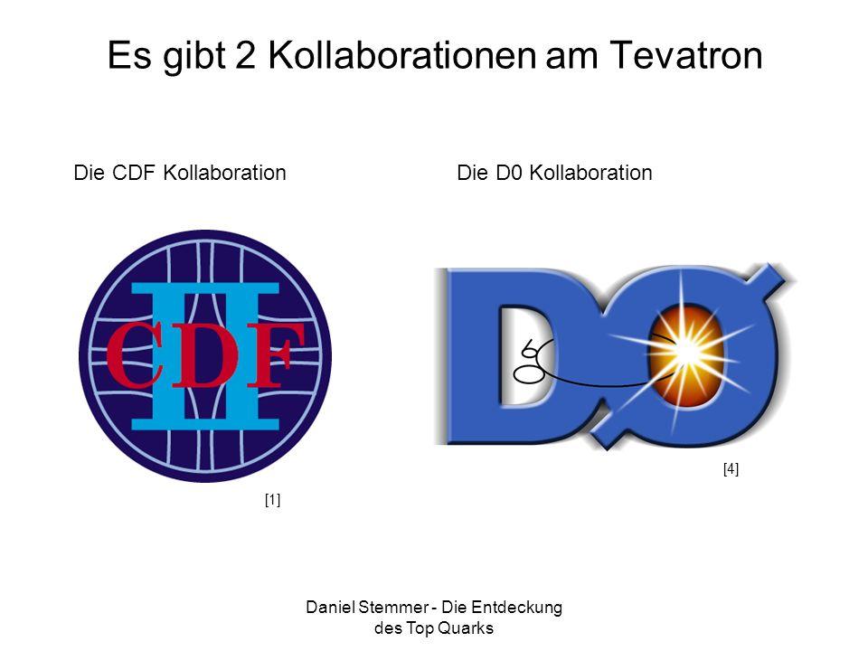 Daniel Stemmer - Die Entdeckung des Top Quarks Es gibt 2 Kollaborationen am Tevatron Die CDF KollaborationDie D0 Kollaboration [4] [1]