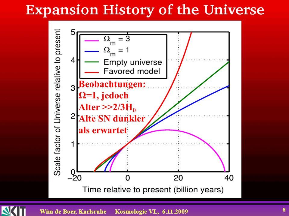 Wim de Boer, KarlsruheKosmologie VL, 6.11.2009 29 Sonnenfinsternis von 1919 machte Einstein berühmt