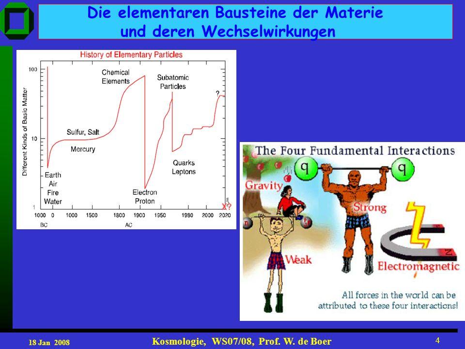 18 Jan 2008 Kosmologie, WS07/08, Prof. W.