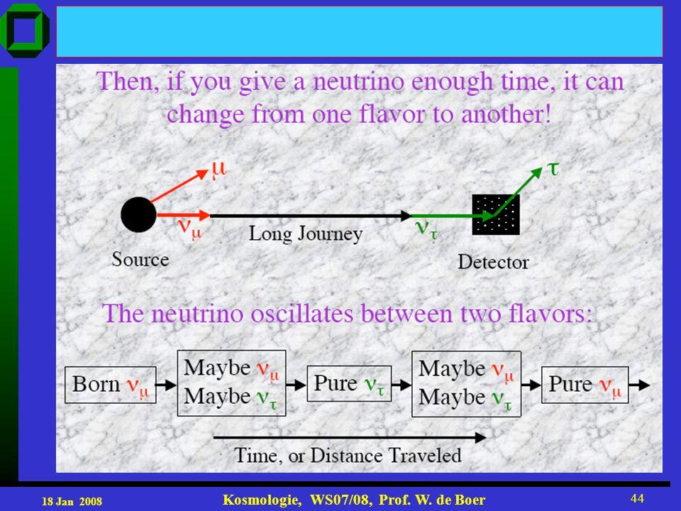 18 Jan 2008 Kosmologie, WS07/08, Prof. W. de Boer 44