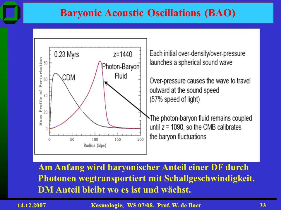 14.12.2007 Kosmologie, WS 07/08, Prof. W. de Boer32 Kombination aller Daten