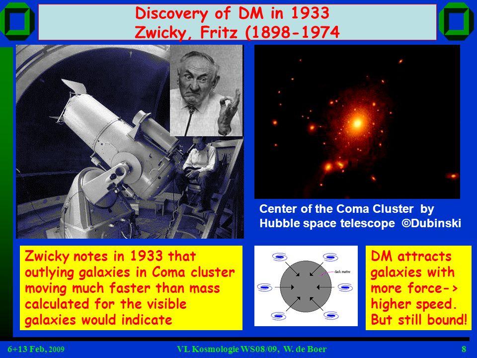 6+13 Feb, 2009 VL Kosmologie WS08/09, W. de Boer19 We like elegant solutions