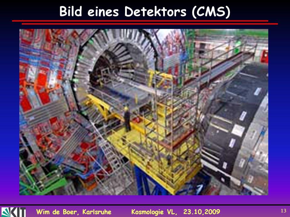 Wim de Boer, KarlsruheKosmologie VL, 23.10,2009 13 Bild eines Detektors (CMS)