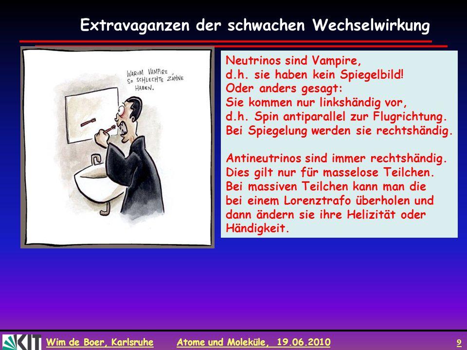 Wim de Boer, Karlsruhe Atome und Moleküle, 19.06.2010 10 Auswahlregel für magnetische QZ.