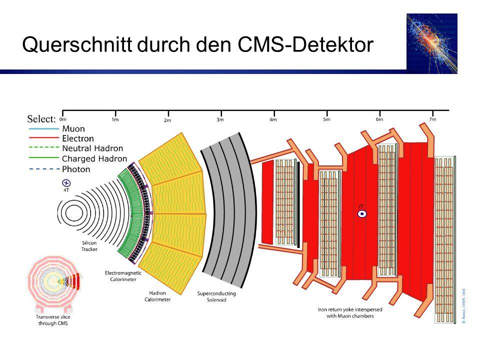 25 Querschnitt durch den CMS-Detektor