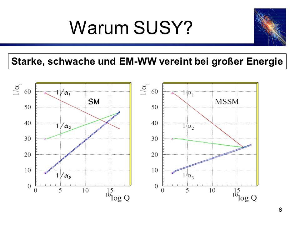 6 Starke, schwache und EM-WW vereint bei großer Energie