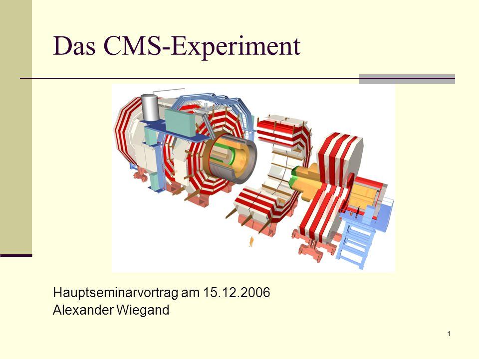 1 Das CMS-Experiment Hauptseminarvortrag am 15.12.2006 Alexander Wiegand