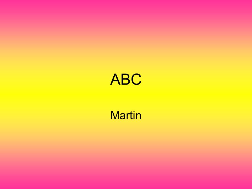 ABC Martin