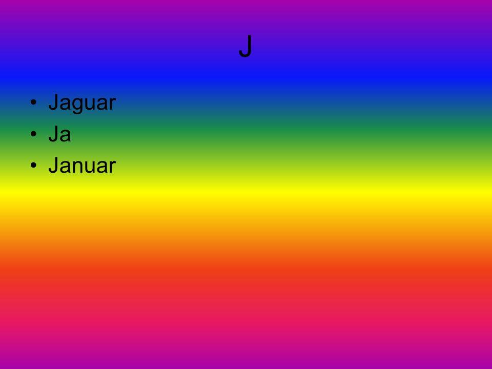 J Jaguar Ja Januar
