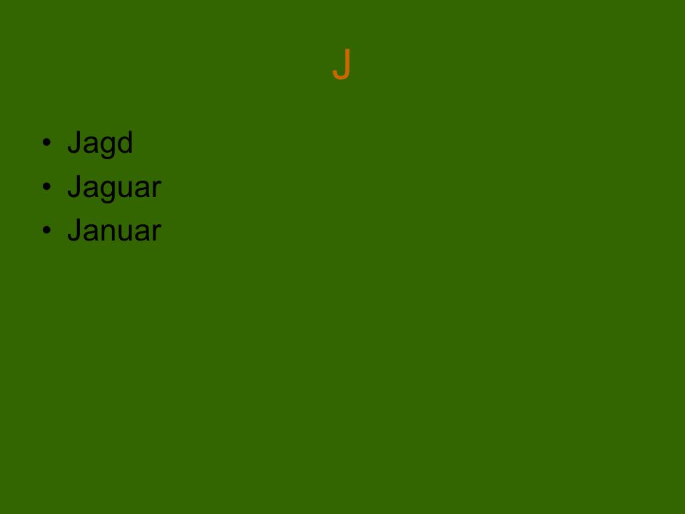 J Jagd Jaguar Januar