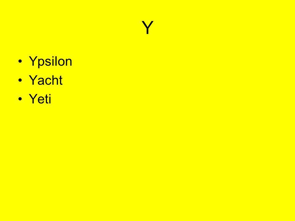 Y Ypsilon Yacht Yeti