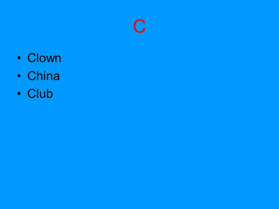 C Clown China Club