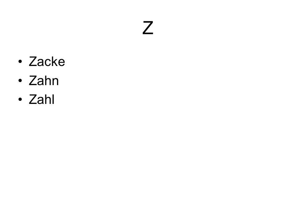 Z Zacke Zahn Zahl