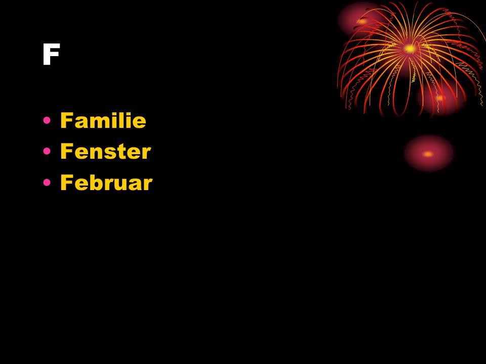 F Familie Fenster Februar
