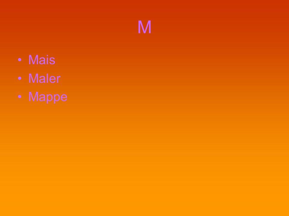 M Mais Maler Mappe