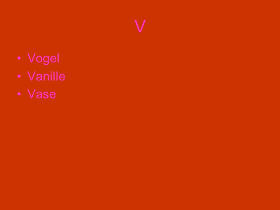 V Vogel Vanille Vase