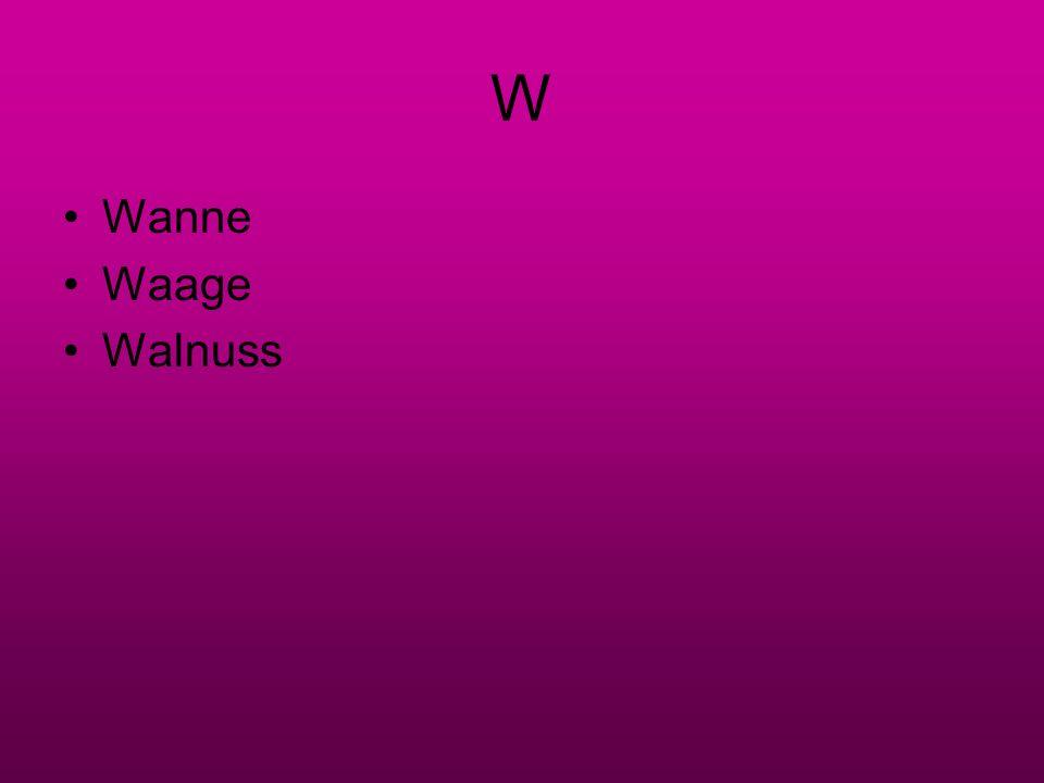 W Wanne Waage Walnuss