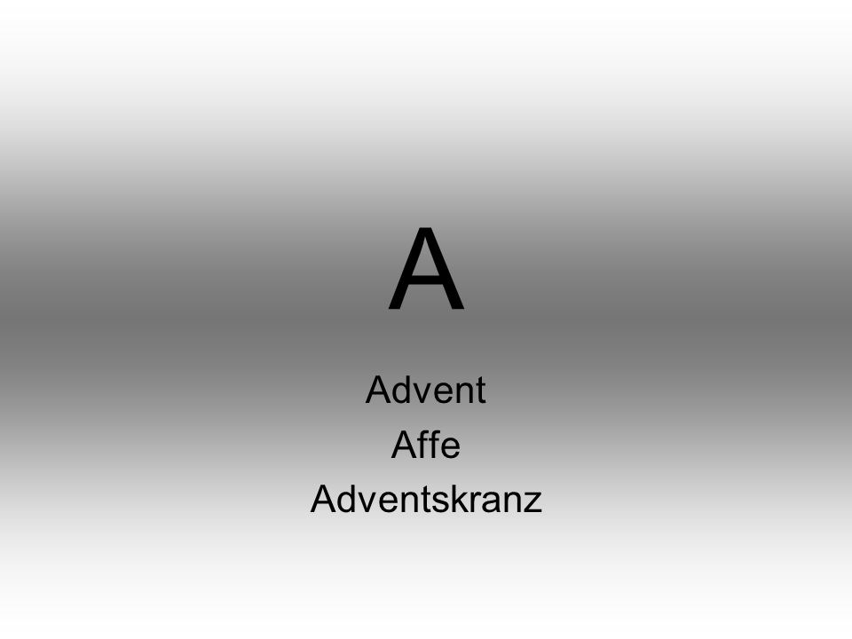 A Advent Affe Adventskranz