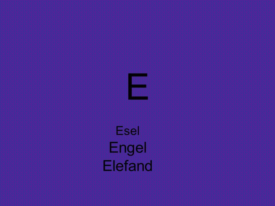 E Esel Engel Elefand