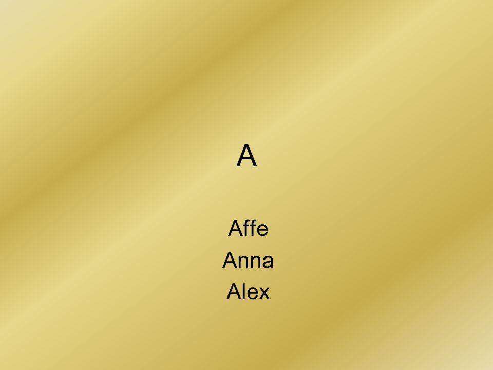 A Affe Anna Alex