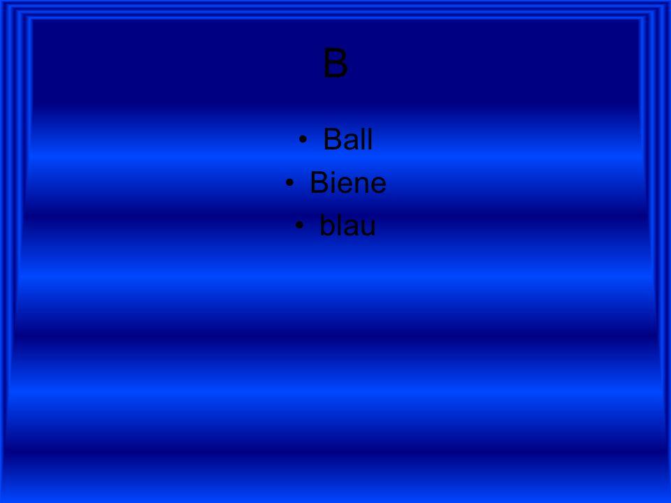B Ball Biene blau
