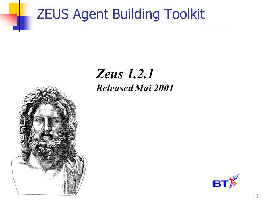 11 ZEUS Agent Building Toolkit Zeus 1.2.1 Released Mai 2001