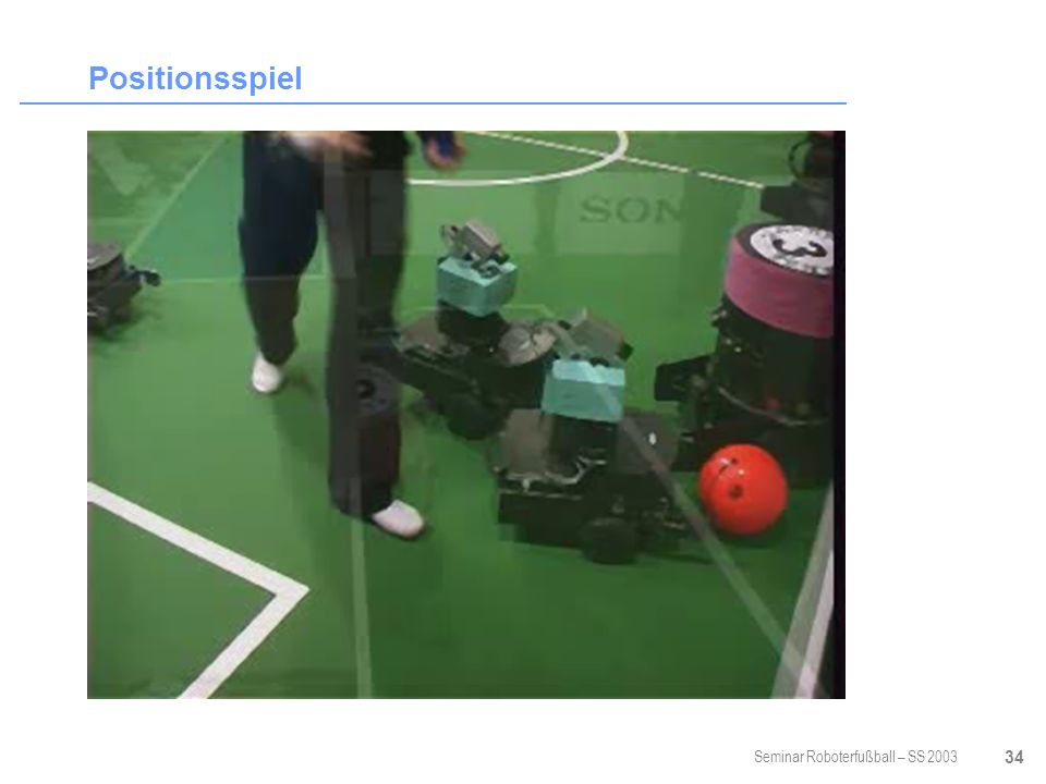 Seminar Roboterfußball – SS 2003 34 Positionsspiel