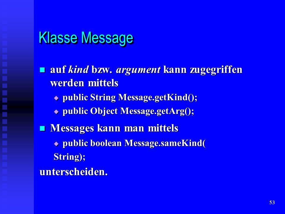 53 Klasse Message auf kind bzw.argument kann zugegriffen werden mittels auf kind bzw.
