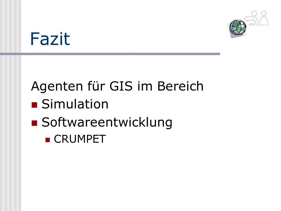 Fazit Agenten für GIS im Bereich Simulation Softwareentwicklung CRUMPET