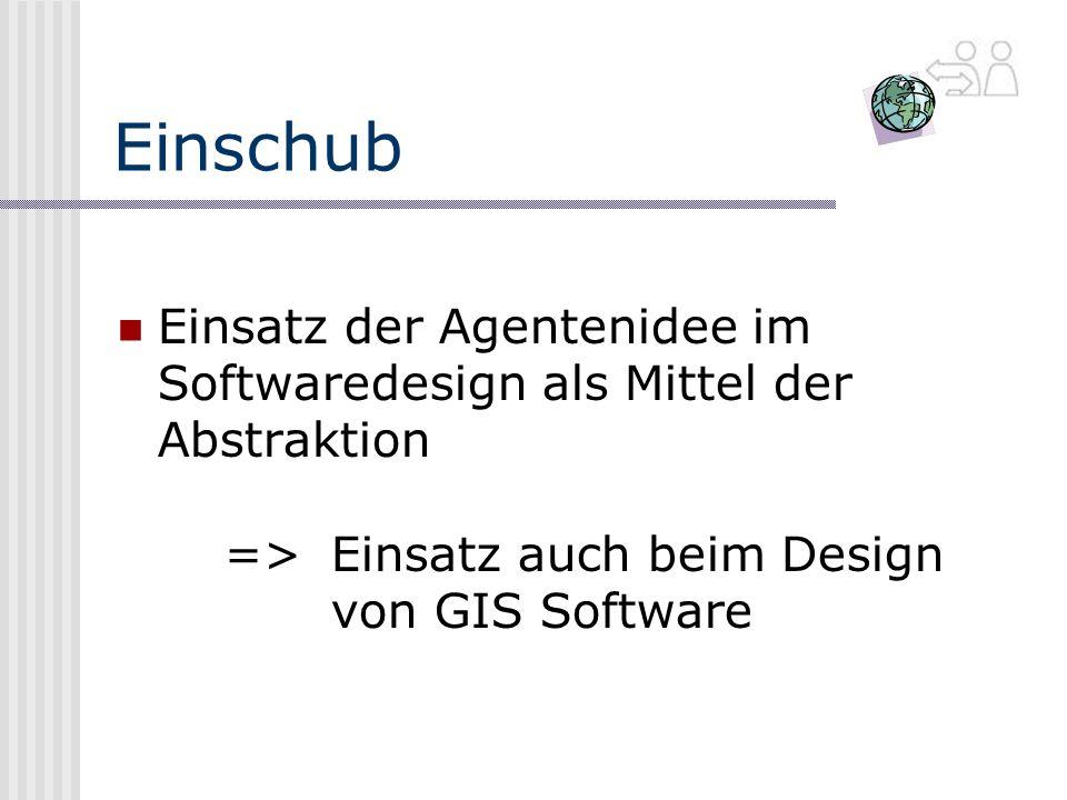 Einschub Einsatz der Agentenidee im Softwaredesign als Mittel der Abstraktion => Einsatz auch beim Design von GIS Software