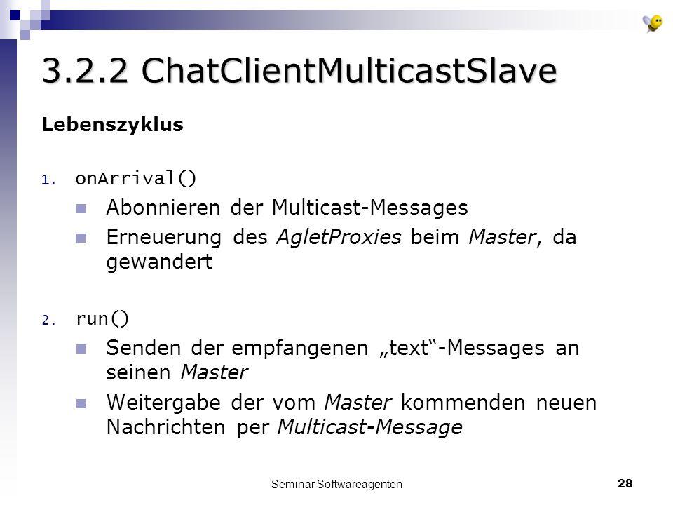 Seminar Softwareagenten28 3.2.2 ChatClientMulticastSlave Lebenszyklus 1.