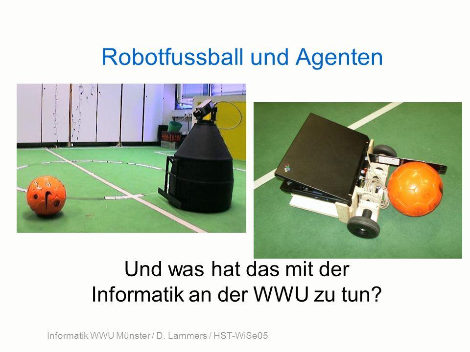 Informatik WWU Münster / D. Lammers / HST-WiSe05 Robotfussball und Agenten Und was hat das mit der Informatik an der WWU zu tun?