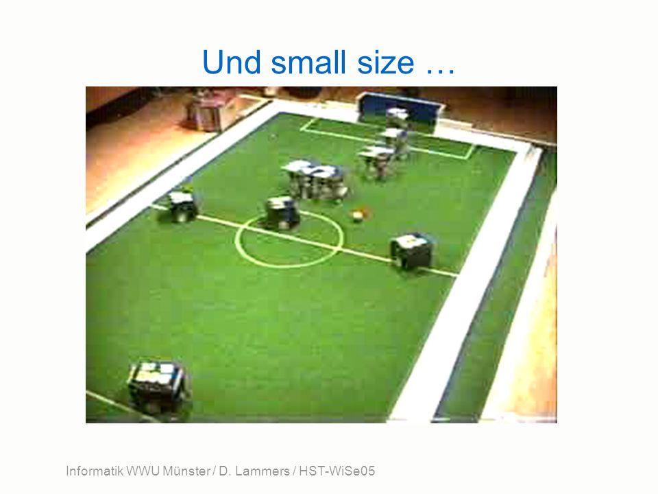Informatik WWU Münster / D. Lammers / HST-WiSe05 Und small size …