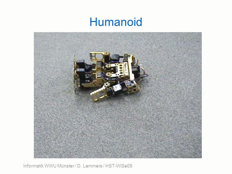 Informatik WWU Münster / D. Lammers / HST-WiSe05 Humanoid