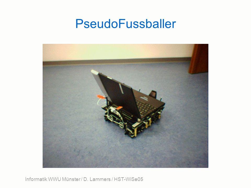 Informatik WWU Münster / D. Lammers / HST-WiSe05 PseudoFussballer